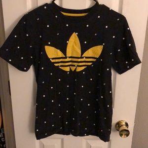 Adidas original logo print big logo black t-shirt